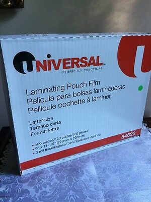 10 LETTER SIZE  Laminating Laminator Pouches Sheets  9 x 11-1/2   3 Mil...