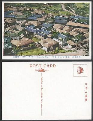 Korea Old Postcard Korean Community Keijo Native Houses Huts Road Furetsu Chosen