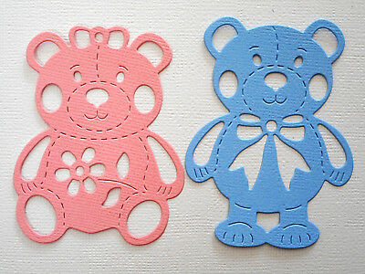 Baby Bear Paper Die Cuts x 5 Sets Scrapbooking Card Topper Embellishment