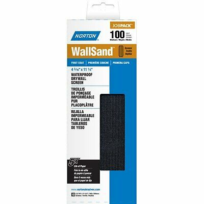 "Norton 07660702302 WallSand Drywall Sanding Screen, 11-1/4"" Length x 4-3/16"" Wid"