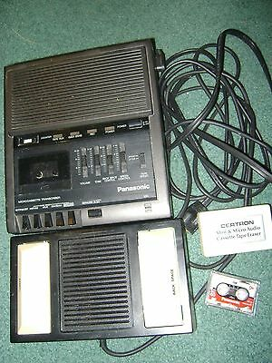 Panasonic Microcassette Transcriber Rr 930 With Pedal Rr 2692