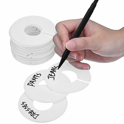 Clothing Rack Size Dividers 20 Pack Round Plastic Circle Hanger Garment Sorting