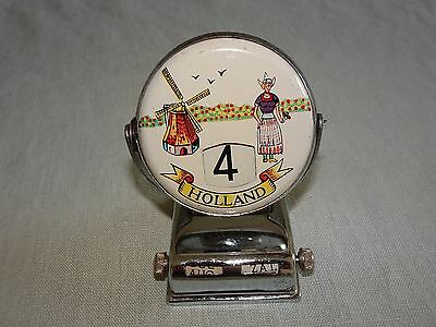 Vintage Perpetual Flip Desk Calendar - HOLLAND - COATS OF ARMS - WINDMILL