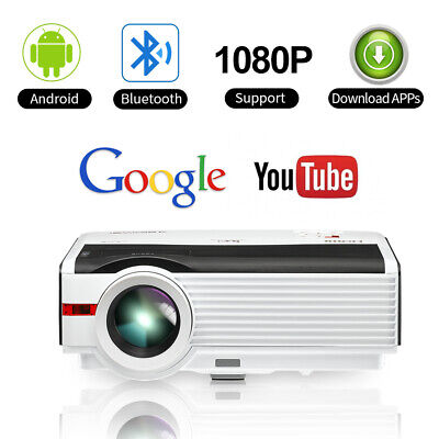 5000LMS Smart Android Projector Home Theater Video HD 1080p WiFi Bluetooth HDMI