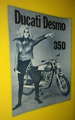 VINTAGE 1969 DUCATI 350 Desmo MOTORCYCLE SPEC SHEET Berliner