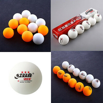 Professional 6Pcs Standard 3 stars DHS Ping Pong Balls Competition Good
