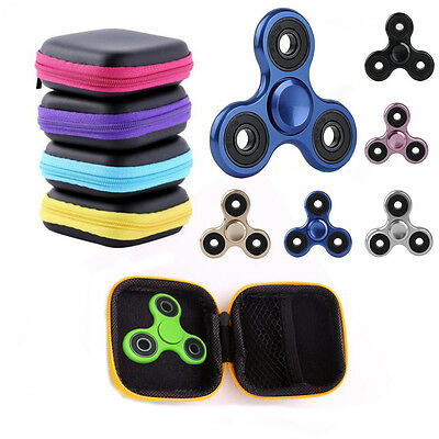 Fidget Hand Spinner Triangle Finger for Focus ADHD Autism Box Bag Case Gyro Toy
