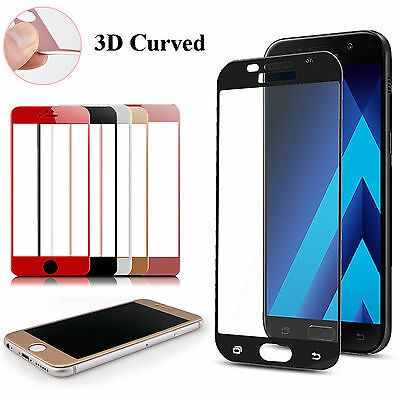 Full 3D Curved 9H Tempered Glass Film Screen Cover Protector For Apple Samsung