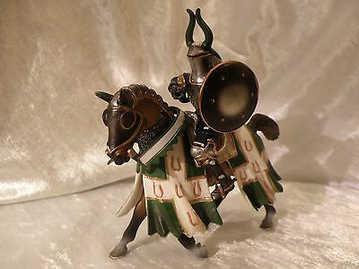 Schleich Green Knight On Horse World Of Tournament Knights 2005 See Pics