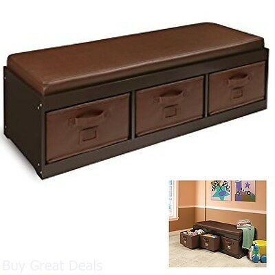 Storage Bench For Bedroom Kid Toy Box Bin Organizer Seat Stool Clothes Drawer