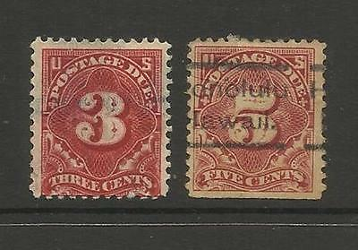U.S.A. POSTAGE DUE ~  1917 (PART SET) 3c, 5c HONOLULU HAWAII