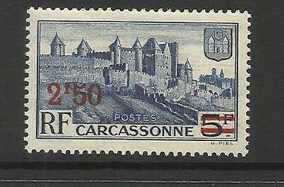 FRANCE ~ 1940 SURCHARGE CARCASSONE 2F50 on 5F (MINT MH)