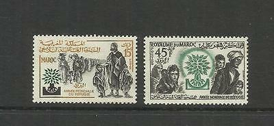 Morocco ~ 19560 World Refugee Year (Mint Set)