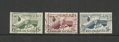 Morocco ~ 1958 Inauguration Of Unesco Headquarters Paris (Used Set)