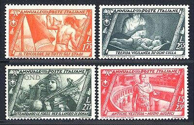 Italy Sc. 290-305, 1932 5c-5L Fascist March on Rome, OG, NH, F-VF.