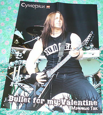 Bullet For My Valentine / Victoria Frances Rare Russian Fold Out Poster 2011
