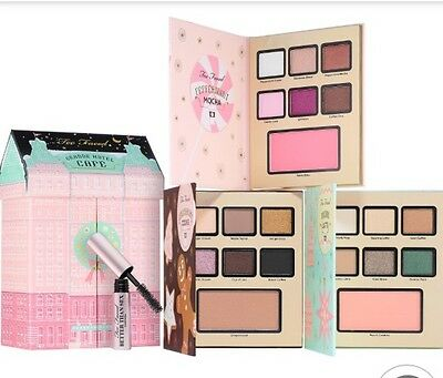 TOO FACED Christmas In New York Grand Hotel Cafe Set NEU - 3 Palette + Mascara