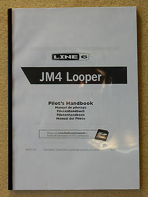 Line 6 JM4 Looper - User Manual, A4 Spiral Bound - Learn how to use your JM4