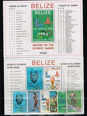 Belize.1980 Summer  Olympics Game.2 Blocks + Set.MNH**