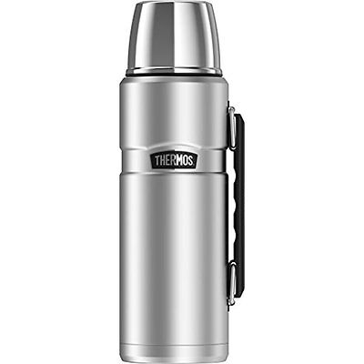 Thermos Vacuum Insulation 40 oz Beverage Bottle Stainless Steel Hot Cold 24 Hrs
