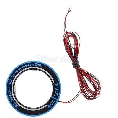 Car Ignition Key Decoration Red LED Ring for Ford McCarthy Everest Mondeo