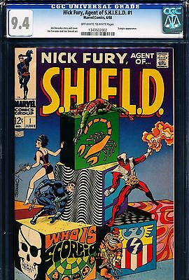 NICK FURY, AGENT OF SHIELD #1 CGC 9.4 Steranko story & art! 1968