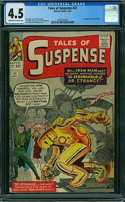 TALES OF SUSPENSE #41 CGC 4.5 3rd Iron Man! Jack Kirby cover & art! 1963