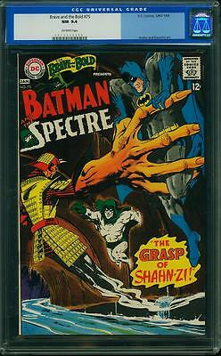 BRAVE AND THE BOLD #75 CGC 9.4 Batman & Spectre! Neal Adams cover!