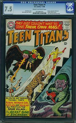 TEEN TITANS #1 CGC 7.5 Batman, Aquaman, Flash, Wonder Woman app! 1966