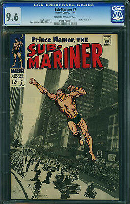 SUB-MARINER #7 CGC 9.6 Photo cover