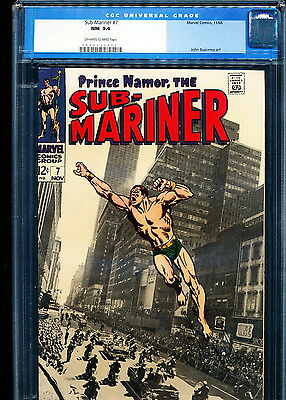 SUB-MARINER #7 CGC 9.4 Photo cover