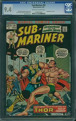 SUB-MARINER #59 CGC 9.4 Vs Thor! Bill Everett cover!