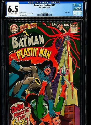 BRAVE AND THE BOLD #76 CGC 6.5 Plastic Man app! Neal Adams cover!