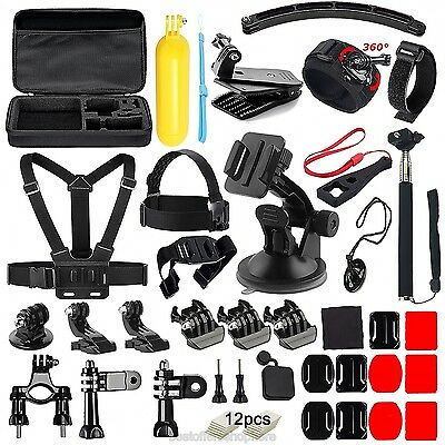 Action Camera Accessories Kit 48 in 1 Bundle Set GoPro Hero 5 4 3+ 3 2 1 W Case