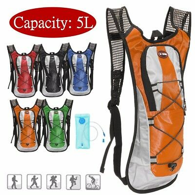 5L Hydration Backpack Rucksack 2L Straw Water Bladder Bag For Cycling Hiking