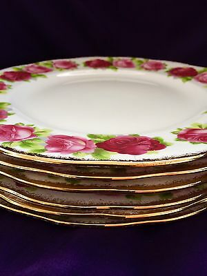 Royal Albert  Old English Rose 6 Dinner Plates 12 Available England 1# Quality