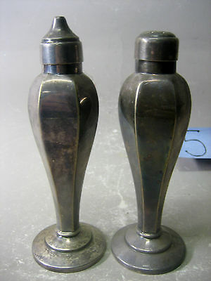Pair A Phoenix Product Hard Soldered E.P.N.S A1 Salt and Pepper Shakers