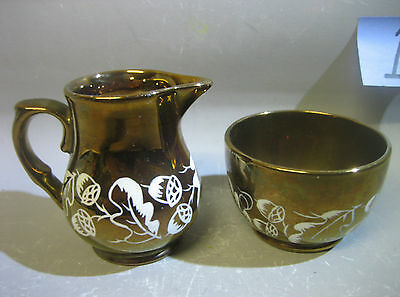 Pair Wade England hand painted jug and cup