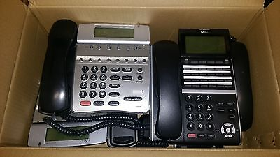 NEC DTerm IP (x2) and DT800 (x2) phone handsets