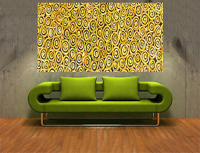 Fine Aboriginal Art Oil Painting Gold Abstract Texture Landscape Aussie By Jane