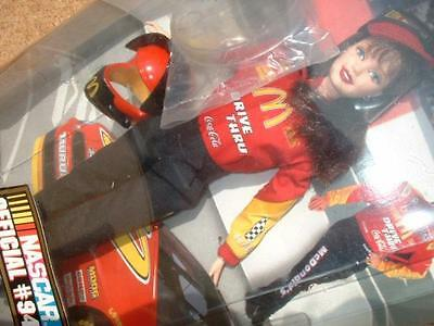 Barbie NASCAR Official # 94 McDonalds Doll Collector Edition From Japan F/S