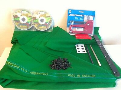 12ft Snooker Table Recovering Kit & Tutorial DVD, Strachan West of England cloth