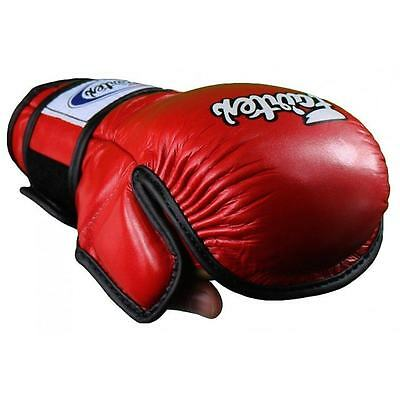 Fairtex FGV15 Red Double Wrist Wrap Martial Arts MMA Boxing Sparring Gloves