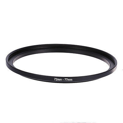72-77 Black 72mm-77mm 72mm To 77mm Step Up Rings Metal Filter Ring Adapter