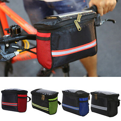 Cycling Bicycle Bike Front Basket Handlebar Bag Pouch With Zipper Pocket ZY