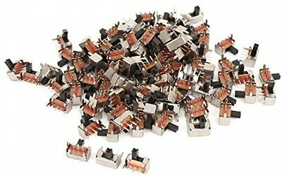100Pcs AC250V 3A 2 Position SPDT PCB Mount Right Angle Slide Switch
