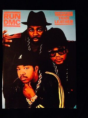 Run Dmc 1987 Tougher Than Leather Tour Concert Program Tour Book-Unused