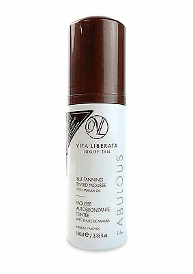 VITA LIBERATA Fabulous Self Tanning Tinted Mousse,** Medium 100 ml** Brown top