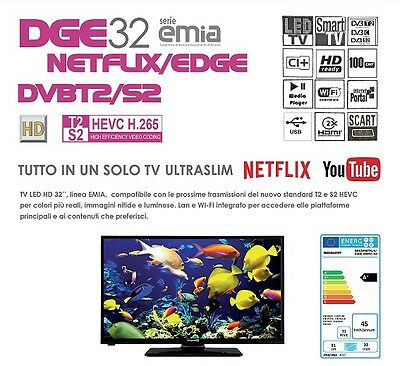 "Smart Tv 32"" Digiquest Dge 32 Serie Emia Dvbt2/s2 Netflix/edge Tv00025"