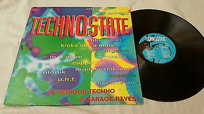 Technostate V/a Lp Inc Remixes The Prodigy Atern-8 Blue Pearl Old Skool Garage